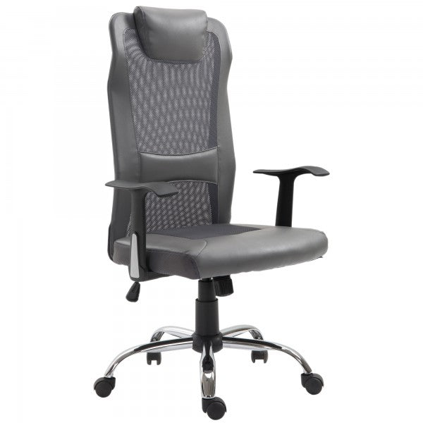 High Back Mesh Home Office Chair - Grey
