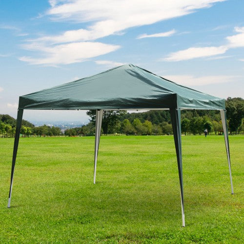 10x10 ft Easy Folding Pop Up Wedding Party Tent [Without Walls] - Green
