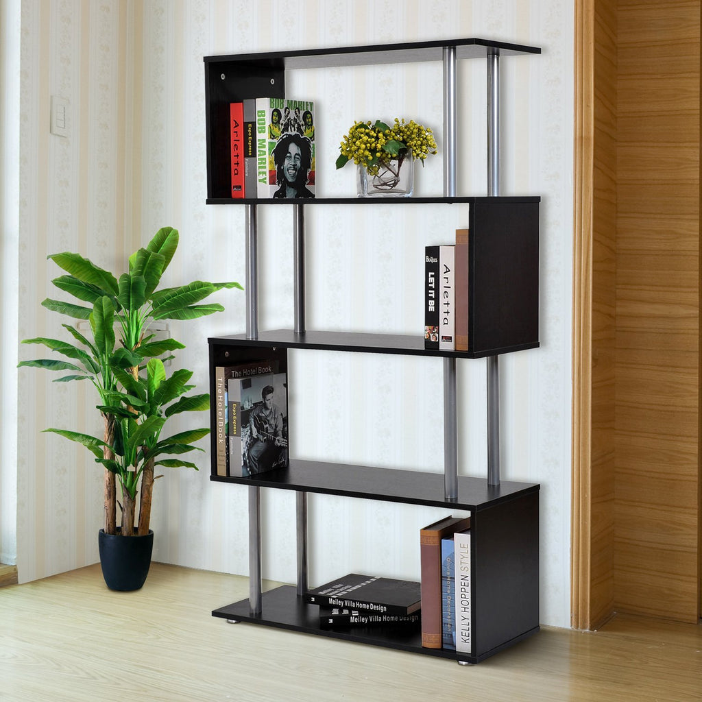 S-Shaped 4-Tier Shelf - Black