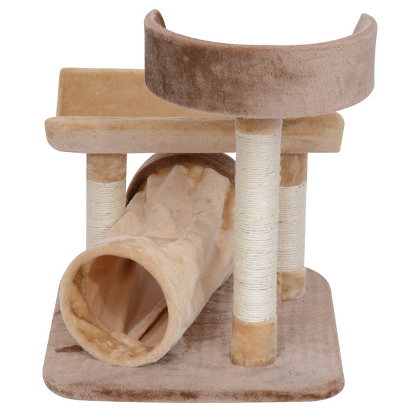 "29"" Cat Tree Scratcher Post with Tunnel - Brown"