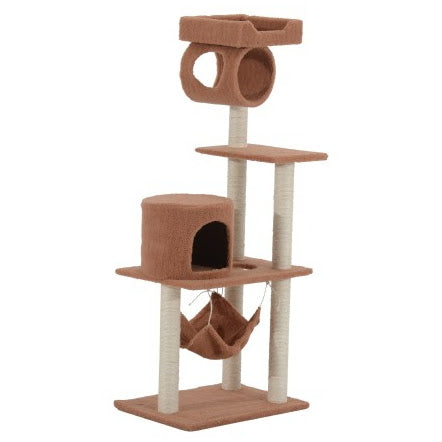 "55"" Multilevel Cat Tree Condo with Hammock - Coffee"