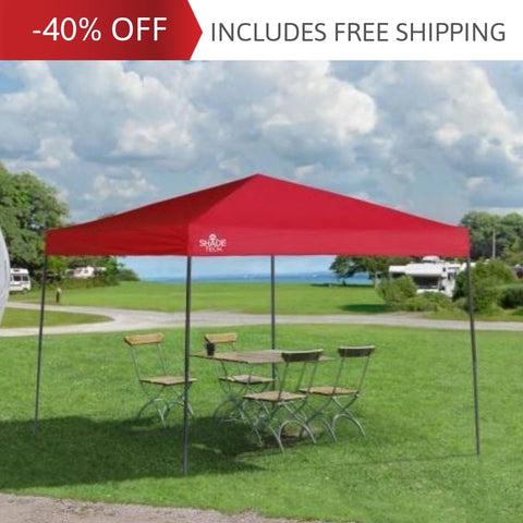 10x10 ft. Shade Tech Straight Leg Standard Pop-Up Canopy Tent - Assorted Colours