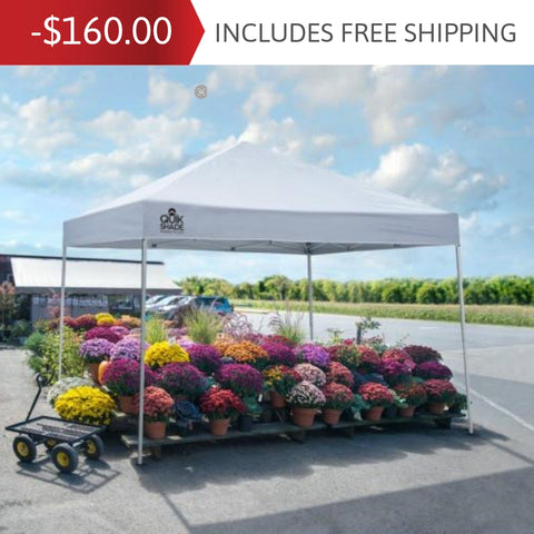 10x10 ft. Outdoor Event Marketplace Superior Pop-Up Canopy Tent - White