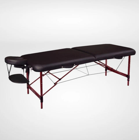 Zephyr Premium Aluminum Portable Massage Table - Black