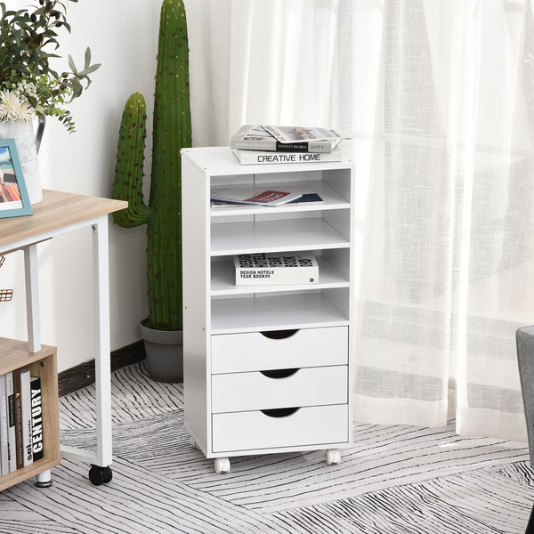 Wooden File Office Cabinet - White