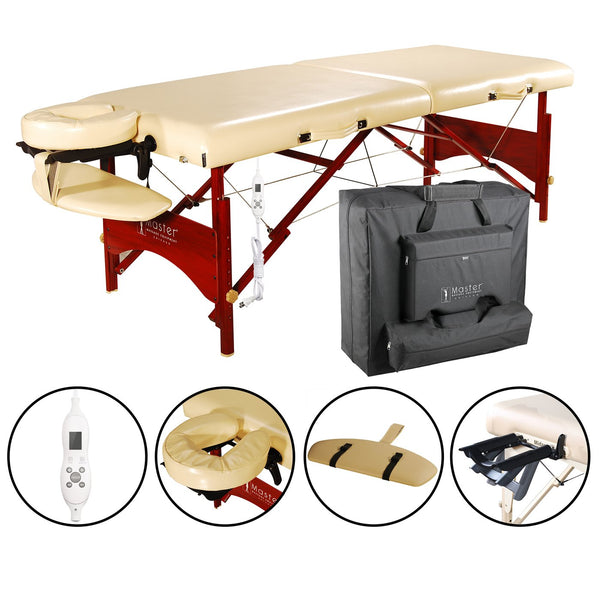 "84"" Caribbean Premium Portable Massage Table - Cream"