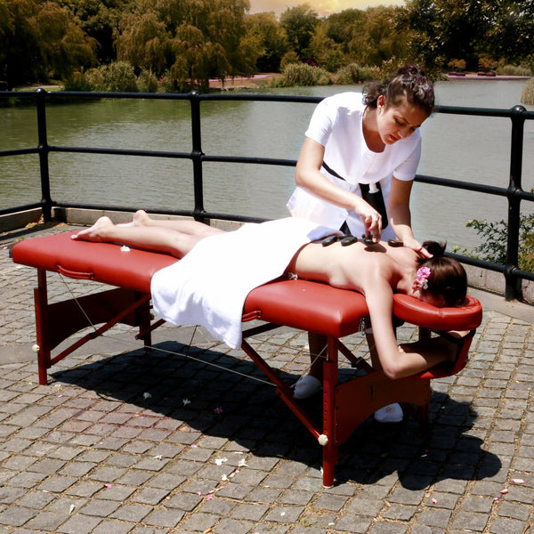 "73"" Fairlane Premium Portable Massage Table - Cinnamon"
