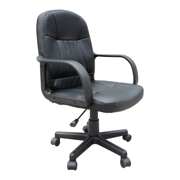 Home Office Mid-Back Chair - Black