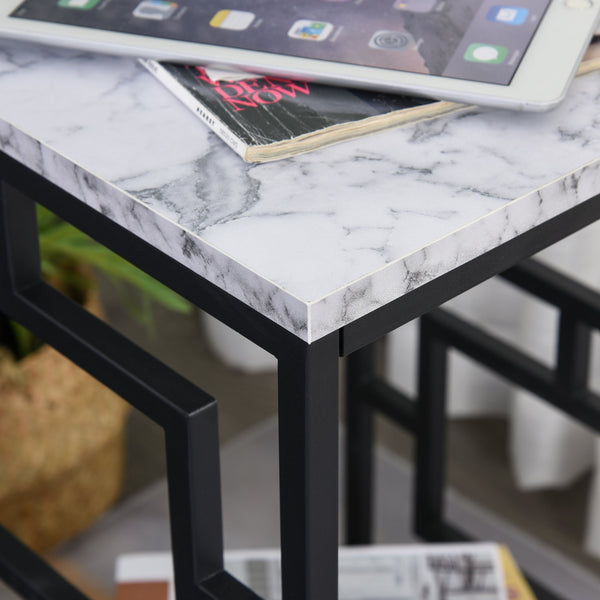 Modern Faux Marble Side Table