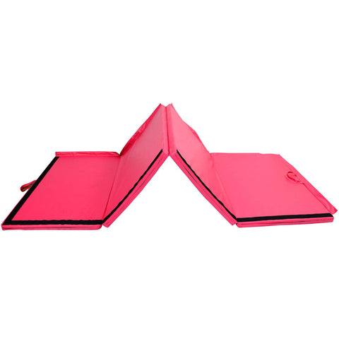 Folding Gym Exercise Yoga Mat - Pink