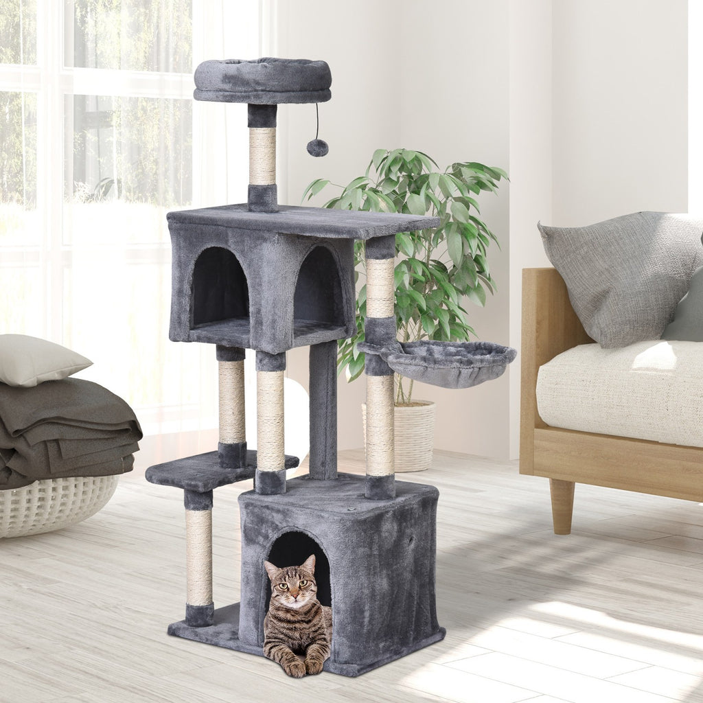 "57"" Multi-Level Cat Tree Activity Centre - Grey"
