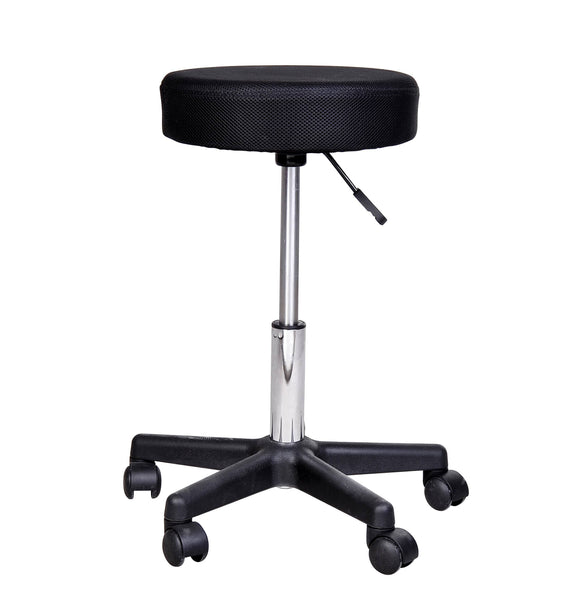 Salon Spa Massage Swivel Stool with Changeable Covers - Black Red White
