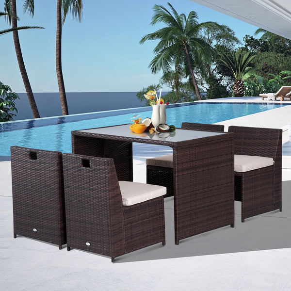 5pc Rattan Wicker Patio Garden Furniture
