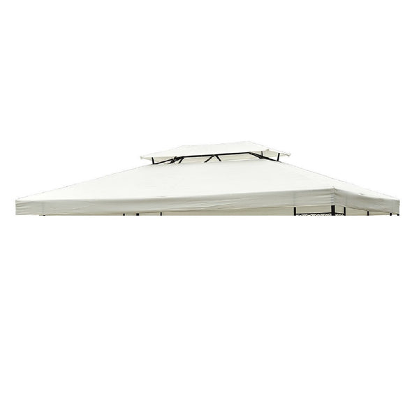 13x10 ft 2 Tier Gazebo Replacement Canopy Top (Top cover only) - white
