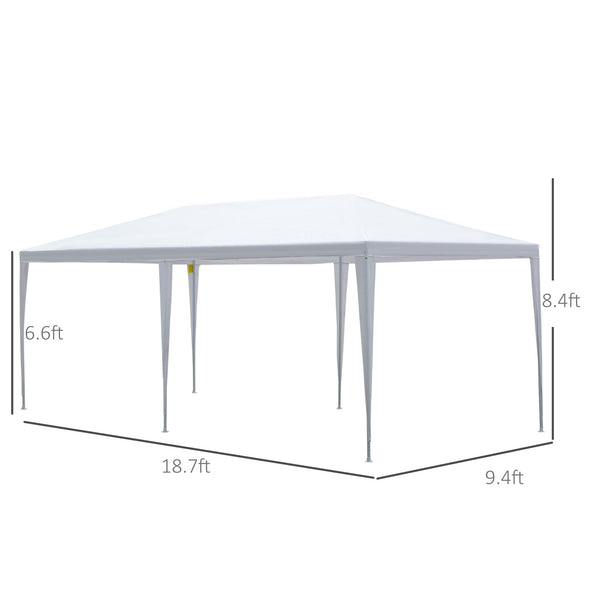 10x20 ft Gazebo Canopy with 4 Removable Window Side Walls - White