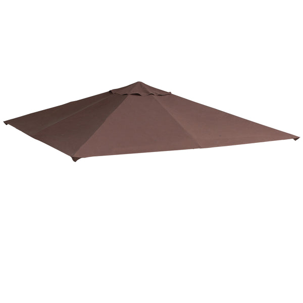 10x10 ft Square Gazebo Replacement Canopy Top (Top cover only) - Coffee
