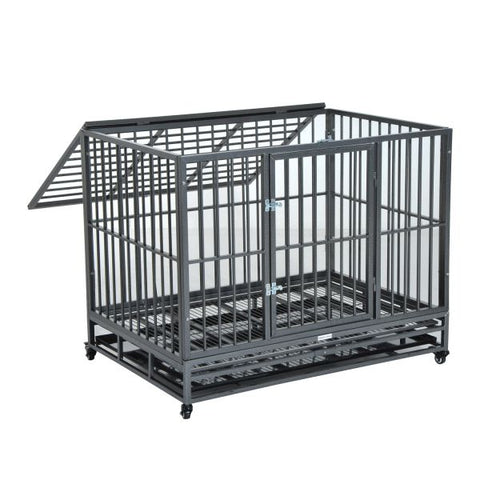 "42"" Heavy Duty Dog Crate on Wheels"