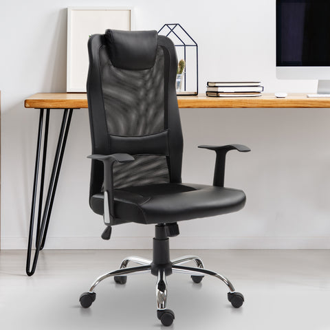 High Back Mesh Home Office Chair - Black