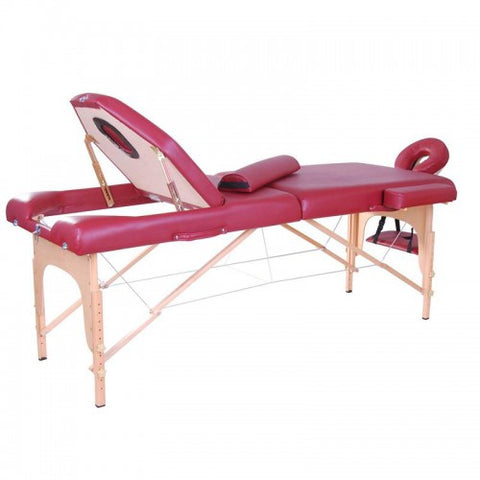 "91"" Professional Portable Physio Reiki Massage Esthetics Table Bed with Bolster Pillow - Red"