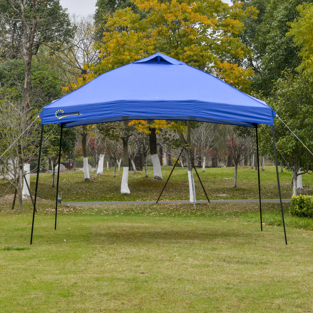 12x12 ft Pop Up Party Canopy Gazebo Tent with Roller Bag - Blue