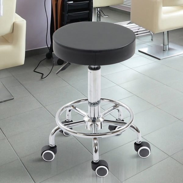 Swivel Spa Chair Massage Stool - Black