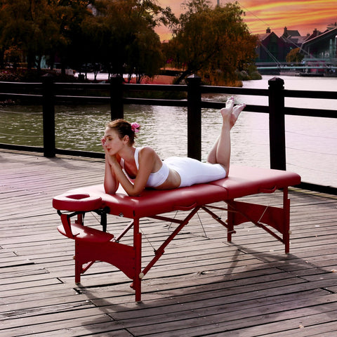 "72"" Fairlane Premium Portable Massage Table - Cinnamon"