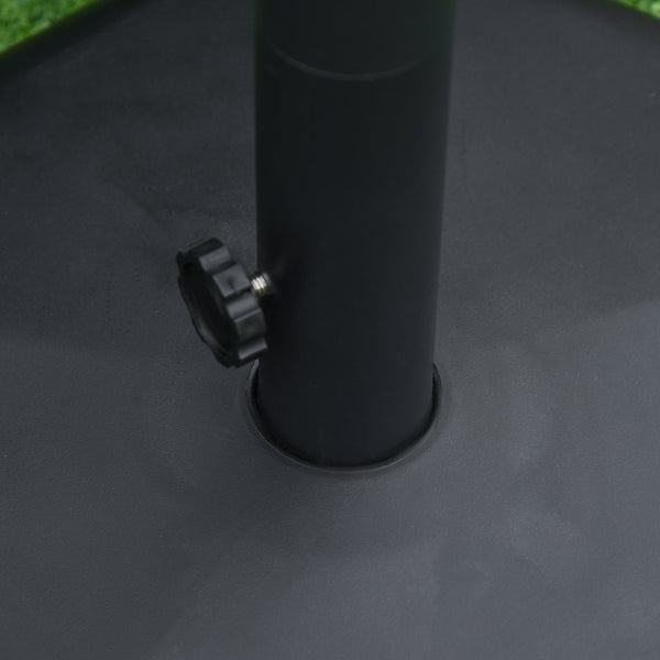 Outdoor Umbrella Pentagonal Rolling Base Stand with 2 Wheels - Black