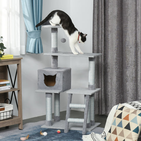 "49"" Cat Tree Condo with Activity Center - Grey"
