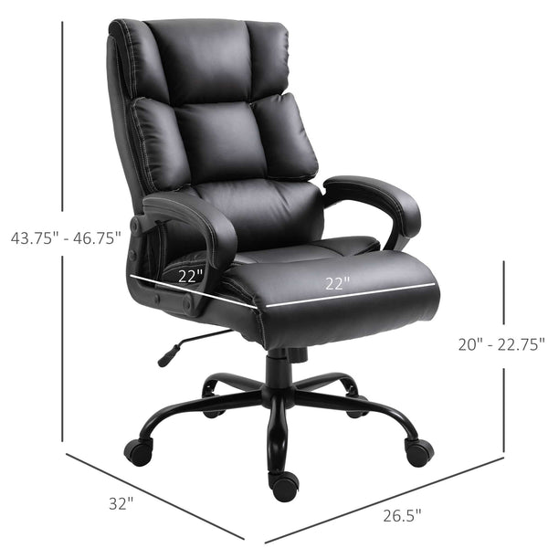 Ergonomic Adjustable Home Office Chair - Black
