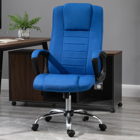 Adjustable Home Office Computer Swivel Chair - Linen Blue