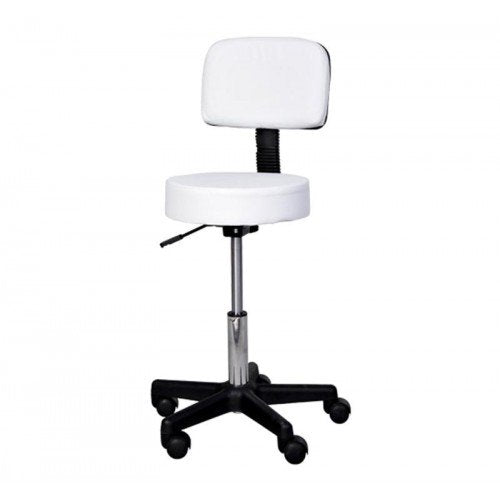 Swivel Salon Chair Massage Stool - White