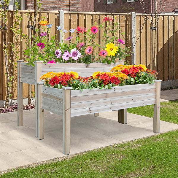 2-Tier Wooden Garden Bed