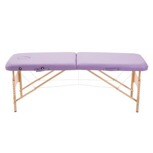 Ultra Portable Mobile Massage Table Bed Beechwood - Black or Purple