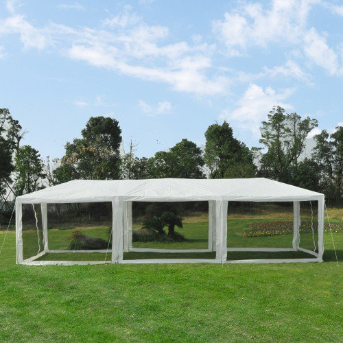10'x30' Party Canopy Tent with Mosquito Bug Mesh - White