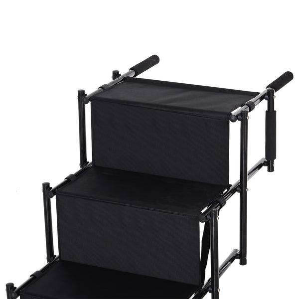 Foldable Portable Nonslip Pet Stairs - Black