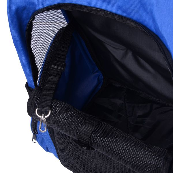 Portable Pet Carrier Rolling Backpack - Blue