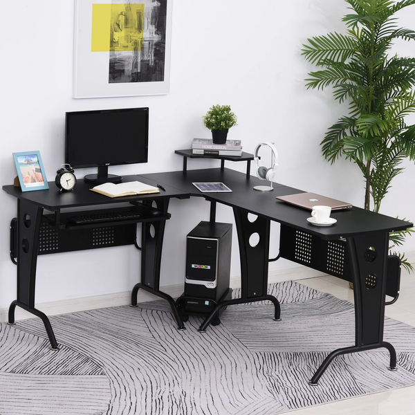 Home Office Computer Writing Desk - Black