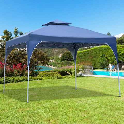 10x10ft Easy Outdoor Pop Up Party Tent with Carrying Bag -  Blue