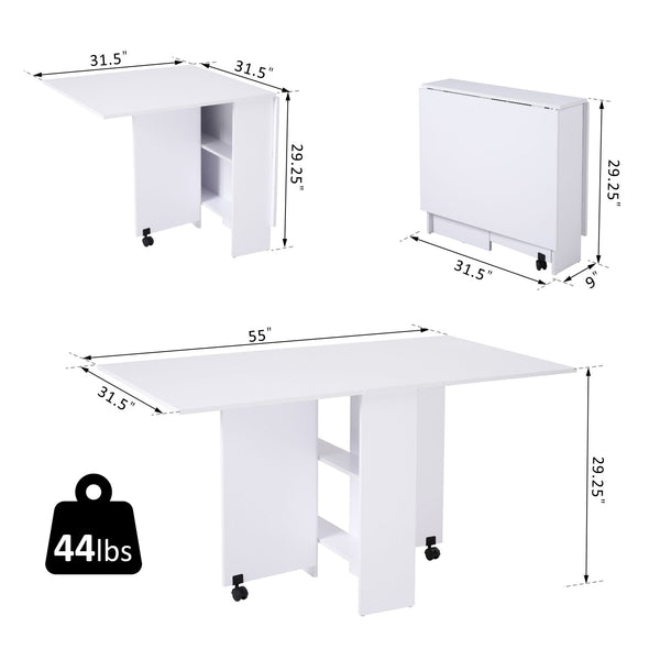 Multi-functional Expandable Dining Table - White