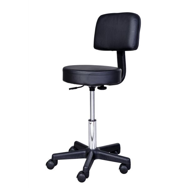 Swivel Salon Chair Massage Stool - Black
