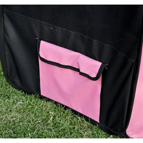 "46"" Portable Pet Playpen with Carry Bag - Pink"