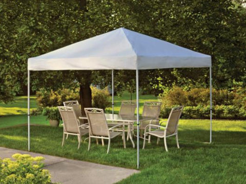 10x10 ft Straight Leg Heavy Duty Pop-Up Canopy Tent - Assorted Colours