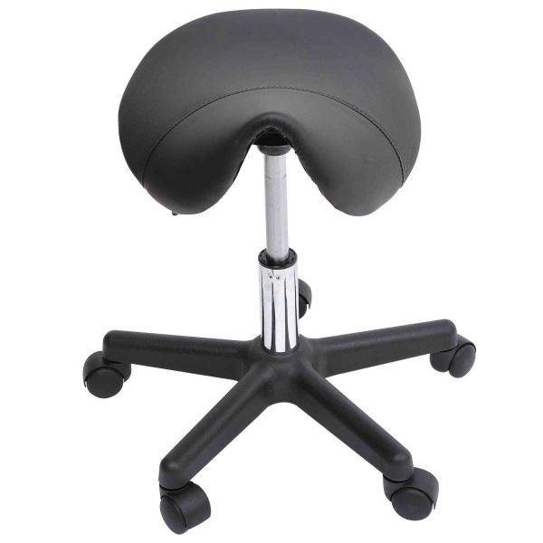 Massage Spa Swivel Saddle Stool - Black