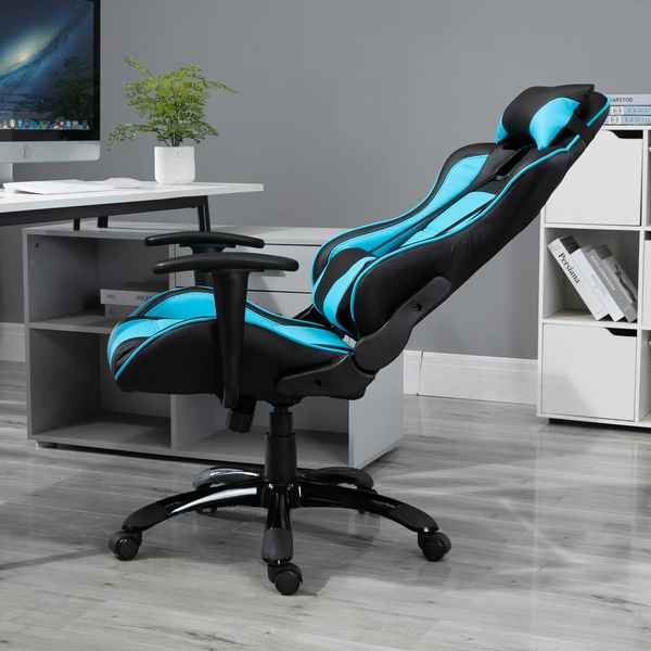 Gaming High Back Computer Home Office Chair - Sky Blue