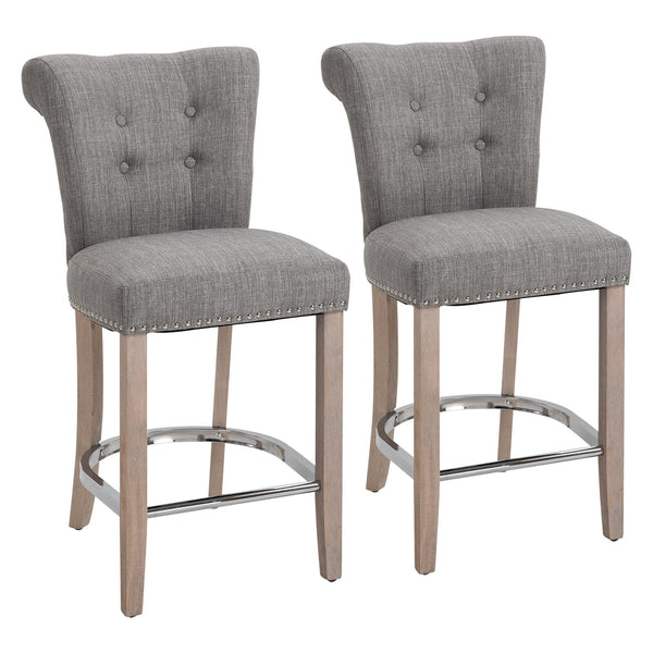 Grey Counter Bar Chairs - Set of 2
