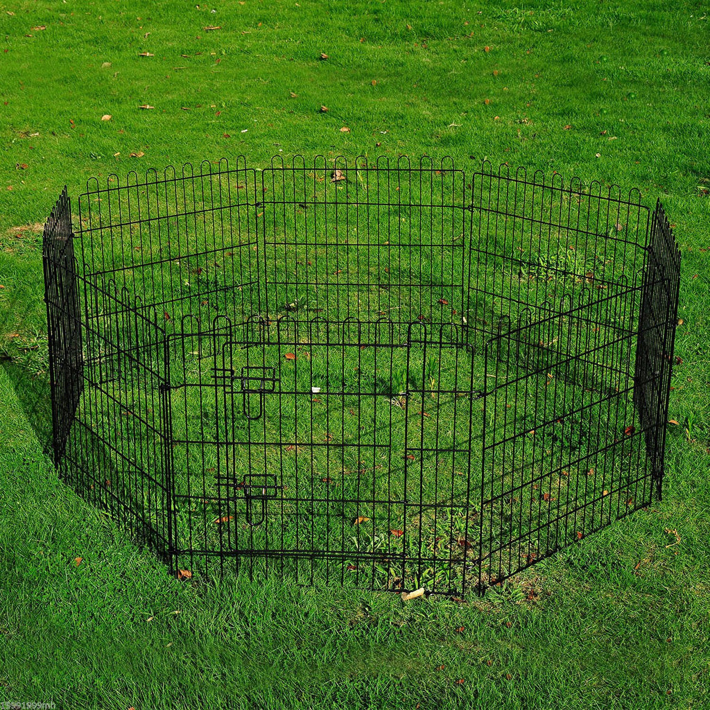 "30"" 8-Panel Metal Pet Playpen"