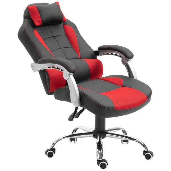 Ergonomic Executive Home Office Chair - Black and Red