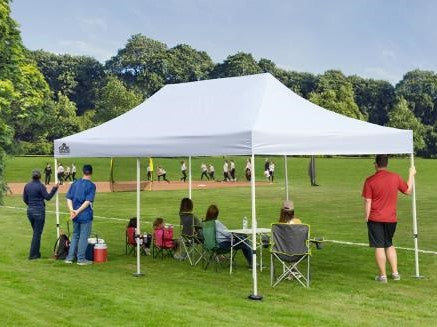 10x20 ft. Commercial Straight Leg Pop-Up Canopy Tent - White