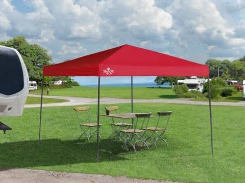 10x10 ft Straight Leg Pop-Up Canopy Tent - Assorted Colours