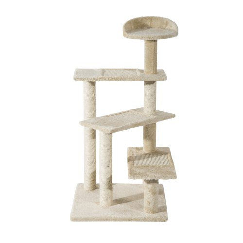 "39"" Cat Tree Scratch Tower with Revolving Steps"